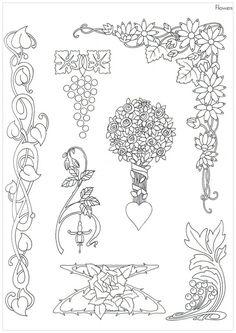 MUCHAS GRACIAS A герка 33 FUENTE: http://www.liveinternet.ru/users/5208689/post293387273/ ==== Adornos en estilo del Art Nouveau. Un...