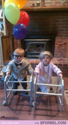 I think next year the kids should go as elderly people and we should go as toddlers!