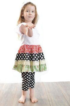 Girl's Multi-Color Polka Dot Outfit