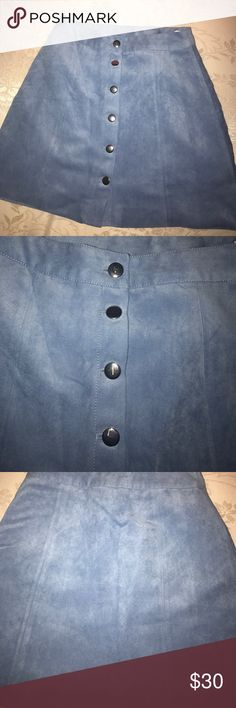 Suede Skirt never worn suede skirt. a line cut. Buttoned down. Images are very clear Skirts A-Line or Full