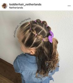 Easy Toddler Hairstyles, Lil Girl Hairstyles, Princess Hairstyles, Easy Little Girl Hairstyles, Girl Hair Dos, Her Hair, Hair Styles, Bubble Style, 5 Years