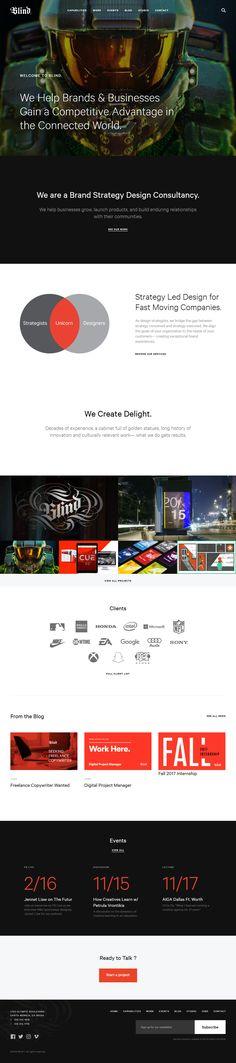 Blind – Brand Strategy Design Consultancy. We Help Your Business Grow. https://blind.com/ StarWarsの画面UIをデザインしたところだとか