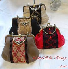Lolitasalavintage: Bolsos de boquilla by LolitaSalá Vintage inspirados en la camisería.