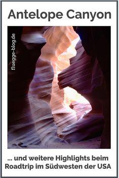 Ein Roadtrip durch den Südwesten der USA zählt zu den absoluten Reiseklassikern. Zurecht! Man reist durch Städte und Natur, durch Nationalparks und völlig verschiedene Landschaften und Klimata. Besonders sehenswert ist zum Beispiel der Antelope Canyon in Page, Arizona. #Roadtrip #RoadtripUSA #AntelopeCanyon #LowerAntelopeCanyon #Arizona #GrandCanyon #USA #Yosemite #GeneralSherman #Amerika #Amerikareise #USAReise #LasVegas #MonumentValley