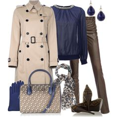 Burberry Trench Coat & Leather Pants - Polyvore
