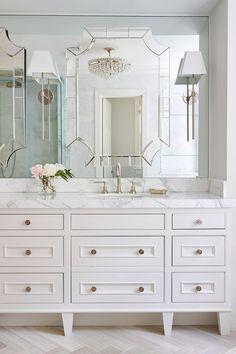 chevron marble tile bathroom interior - Google Search