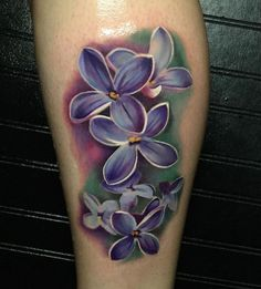 Purple Lilacs Tattoo