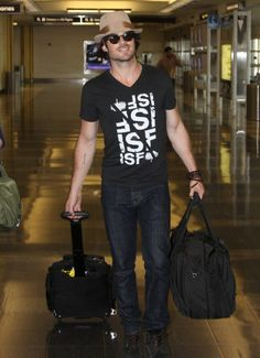 Ian Somerhalder arrived in Ronald Reagan National Airport on Monday afternoon (June 23) in Washington, D.C.