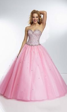 Ball Gown Sweetheart Prom Dresses Pink Long Prom Dresses