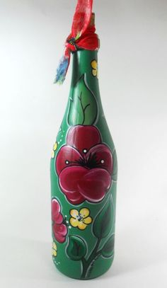 Garrafa Verde Seco Chita - Quintal das Cores