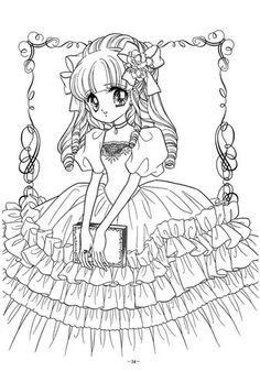 Coloring Books Anime New 1903 Best Anime asian Art & Manga Coloring Pages Images Blank Coloring Pages, Printable Adult Coloring Pages, Coloring Pages For Girls, Animal Coloring Pages, Coloring Books, Digital Stamps Free, Princess Coloring Pages, Anime Princess, Colorful Drawings