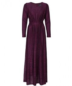 A timeless and feminine lace gown with a pleated waist to highlight a feminine silhouette. Made from a very fine quality lace fabric with inner lining. This floor length gown offers an effortless and classic evening look.