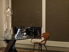 Hunter Douglas Alustra® Screen Shades from Decorview. Sleek, yet high-impact window treatments for the modern home. Traditional Window Treatments, Contemporary Window Treatments, Dining Room Drapes, Dining Room Windows, Dining Rooms, Honeycomb Shades, Woven Wood Shades, Custom Blinds, Style