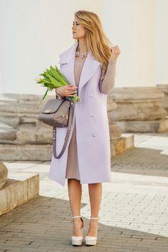 Жилет длинный, лавандового цвета Fashion Confession