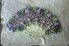 Violet Hand Fan Card by Calsidyrose