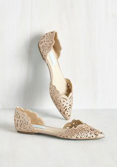 Divine Dining Flat in Champagne by Blue by Betsey Johnson - Blush, Rhinestones, Wedding, Bridesmaid, Bride, Flat, Solid, Special Occasion, Party, Under 100 Gifts, Sparkly2015