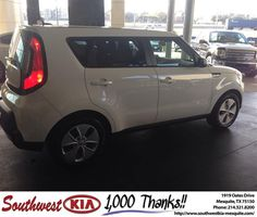 https://flic.kr/p/DHwuix | Happy Anniversary to George on your #Kia #Soul from Clinton Miller at Southwest Kia Mesquite! | deliverymaxx.com/DealerReviews.aspx?DealerCode=VNDX
