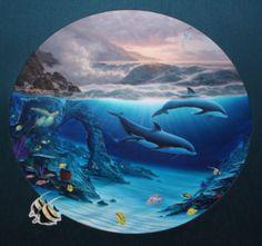 """Original Painting """"Enchanted Ocean 1995"""" by Robert Wyland"""