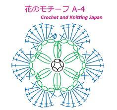 花のモチーフ A-4【かぎ針編み初心者さん】編み図・字幕解説 Crochet Flower Motif / Crochet and Knitting Japan  https://youtu.be/3iNtIam5IWw 1段目は長編み3目の玉編み、2段目は長編み7目の花弁を編みます。 鎖編み、長編み、玉編みで編みます。 ◆編み図はこちらをご覧ください。