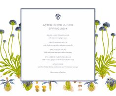 Tory Entertains: Spring 2014 After-Show Lunch | The Tory Blog