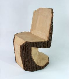 Wooden Panton Chair    Slovakian designer Peter Jakubik's latest creation is the coolest chair I've seen in a long time. Inspired by legendary Danish furniture designer Verner Panton's iconic Panton S chair, Jakubik's Panton DIY is carved from a single log with a chainsaw.