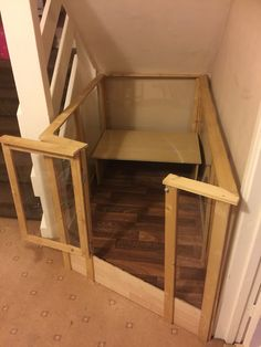 Custom made indoor rabbit hutch