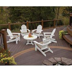 Trex Trex Outdoor Cape Cod 6 Piece Adirondack Seating Group