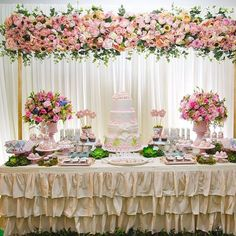 Discover thousands of images about Resultado de imagem para festa jardim encantado Birthday Decorations, Wedding Decorations, Decoration Patisserie, Deco Champetre, Bridal Shower, Baby Shower, Baptism Party, Festa Party, Candy Table