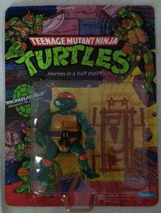 1988 PLAYMATES TMNT TEENAGE MUTANT NINJA TURTLES MICHELANGELO UNPUNCHED PERFECT