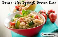 Brown rice is a whole grain staple, but it has a rep for being a bit bland and boring on its own. We've rounded up 13 fast, flavorful ways to revamp this super side dish. via @SparkPeople