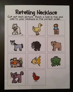 The Kindergarten Center: Brown Bear  Retelling necklace