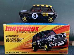 Matchbox 1964 Austin Mini Cooper S Black Car with Box Lesney Edition Matchbox Art, Star Wars Poster, Mini Cooper S, Hot Wheels Cars, Pontiac Gto, Diecast Model Cars, Retro Toys, Plastic Model Kits, Cool Toys