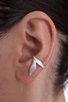 """Ohrringe - Ohrring Ohrklemme Silber 925 """"Zweiblattcreole""""207S - ein Designerstück von Appelstyle bei DaWanda"""