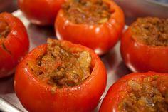 Sausage Stuffed Tomatoes - Paleo Plan