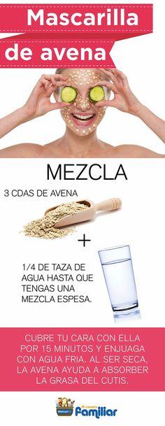 mascarilla de avena para la piel grasa