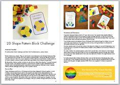 math ideas for block center