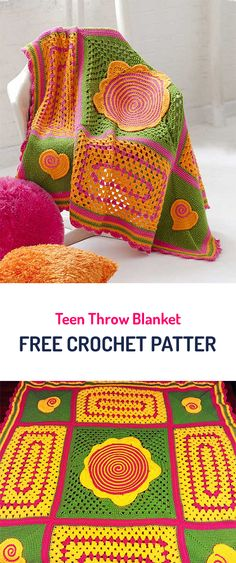 Teen Throw Blanket Free Crochet Pattern #crochet #style #yarn #crafts #homedecor #home