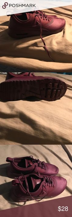 Nike shoes Burgundy nike shoes !!! It says purple but it's a burgundy color..shoes are like new. Nike Shoes Athletic Shoes