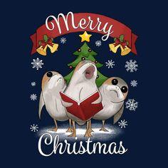 Star Wars Last Jedi Porgs Merry Christmas Men's T-Shirt