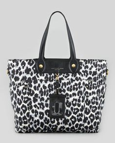 For the New Mom: Preppy Nylon Eliz-A-Baby Diaper Bag, Elephant Gray by MARC by Marc Jacobs at Neiman Marcus.