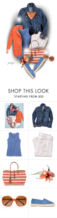 """Cool Weather Denim"" by rockreborn ❤ liked on Polyvore featuring Talbots, Gap, L.L.Bean, Siwy, La Bagagerie, Marni, Chloé and Echo Design"