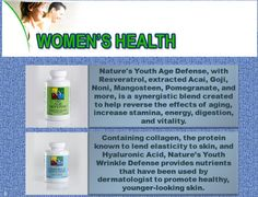 There are so many solutions available for women facing anti-aging problems. Natures Youth also offers different kinds of natural products for treating women problems like wrinkles, lack of energy and stamina etc.