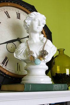 diy brooch necklace