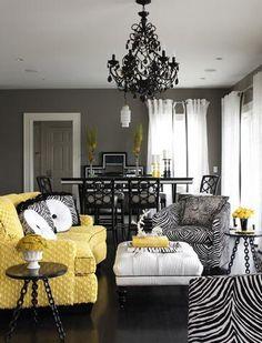 wohnraumgestaltung mit frischen farben - lila und grau | möbel ...