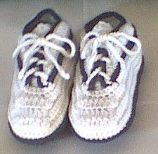 Crocheted Sneaker Slippers...This pattern is easier than the first pattern(says creator).These are so cool that I'd love to make them for presents!..Thanks so.o much!