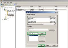 DHCP server reconfiguration