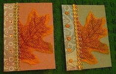 autumn leaves, artist trading cards