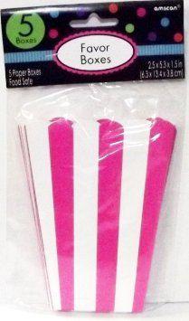 Amazon.com: Small Bright Pink Popcorn Shaped Favor Box-5 pieces: Health & Personal Care