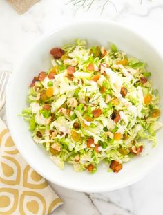 shaved-brussels-sprout-salad-with-apples-bacon-and-hazelnuts2 | flavorthemoments.com