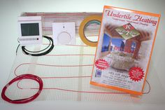 Underfloor heating, DIY ,undertile heaters and thermostats. Underfloor Heating Mats, Radiant Heat, Potted Plants, Diy, Flooring, Blog, Thermostats, House, Bricolage